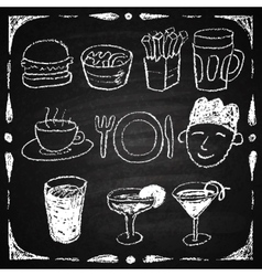 Hand drawn restaurant menu elements vector image