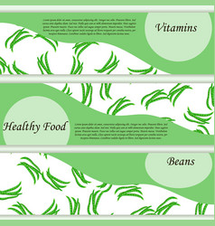 High quality of beans label vector