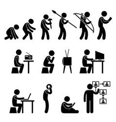 human evolution pictogram a set of pictogram vector image