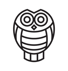 Icon owl vector