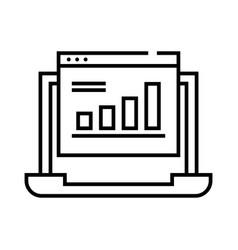 Infografics line icon concept sign outline vector