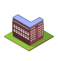 isometric building letter l form vector image