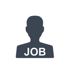 Job candidate icon vector