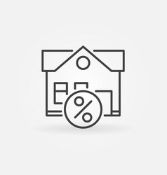 Leasing property icon vector
