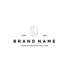 Letter lb logo design vector
