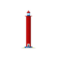 lighthouse sea beacon tower or water light house vector image
