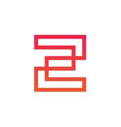 line letter z logotype vector image