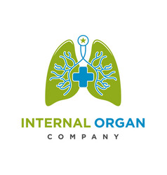 Logo design health organs in lungs vector