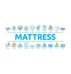 Mattress orthopedic minimal infographic banner vector