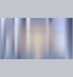 metal background with texture and rivets polished vector image