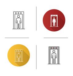 Metal detector portal icon vector