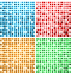 Mosaic textures vector