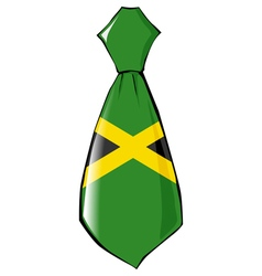 necktie in national colours of Jamaica vector image
