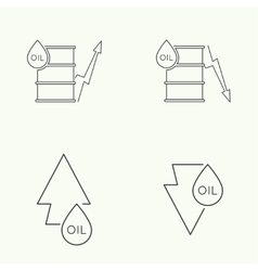 Oil barrels with indicators vector image
