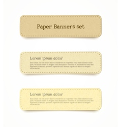 paper banner set vector image vector image