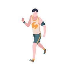 people in park isometric man engaged in sports vector image