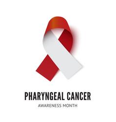 Pharyngeal cancer awareness ribbon vector