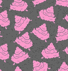 Pink Turd seamless pattern Pile of shit ornament vector image