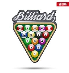 Premium symbol of Billiard Tag vector