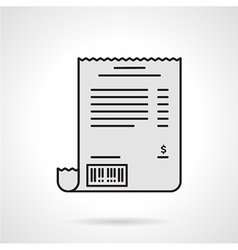 Receipt flat color icon vector image