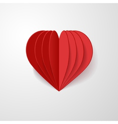 red 3d heart vector image
