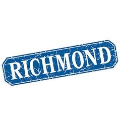 Richmond blue square grunge retro style sign vector