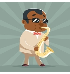 Saxophone Music Jazz Afro American Artist Concept vector
