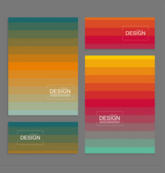 set book covers and banners vector image