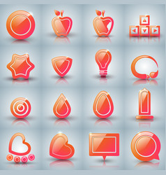 Set icon on the grey background vector