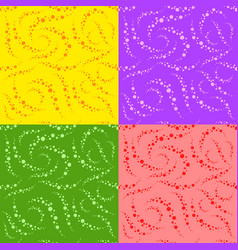 set of colored abstract seamless patterns simple vector image