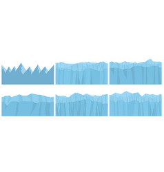 set seamless mountains vector image