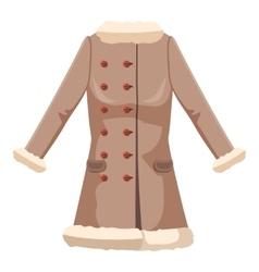 Sheepskin jacket icon cartoon style vector image