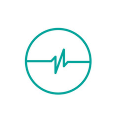 simple pulse with circle logo template simple vector image