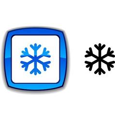 Snowflake button vector