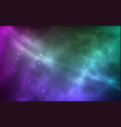 space background magic stardust and shining stars vector image