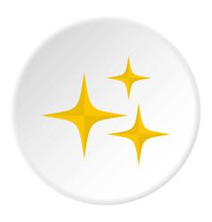 stars icon circle vector image