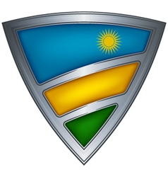 steel shield with flag rwanda vector image
