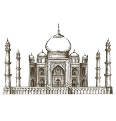Taj Mahal logo design template India or vector