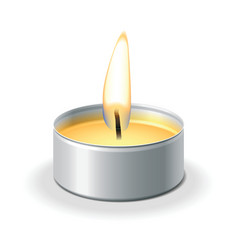 tea light vector image