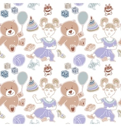 toy childhood bear cute teddy gift isolated vector image