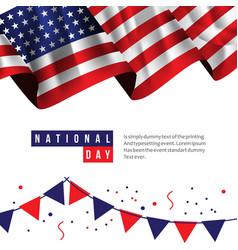 Usa national day template design vector