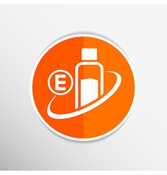 Vitamin E Isolated chemistry On White Background vector