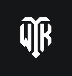 Wk logo monogram design template vector