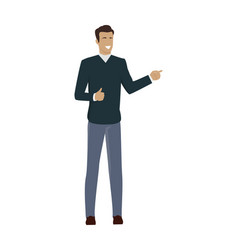 young businessman character vector image