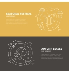 Autumn Banner Template vector image vector image