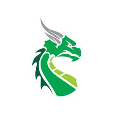 cartoon dragon face vector image vector image