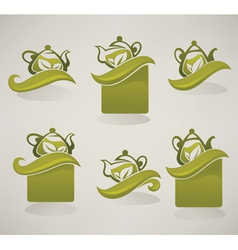 collection of eco drinks labels and sticker vector image