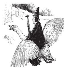 mother goose vintage vector image vector image