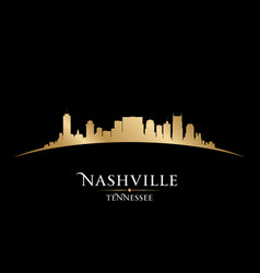 Nashville Tennessee city skyline silhouette vector image