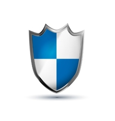 Protection shield glossy icon isolated on vector image vector image
